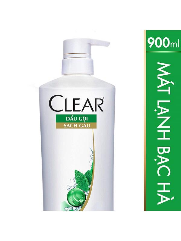 Dầu-Gội-Clear-Mát-Lạnh-Bạc-Hà-(900g)