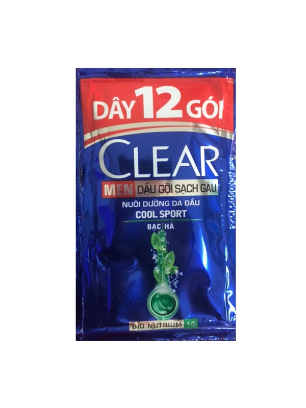Kết quả hình ảnh cho Clear men dây 12 gói